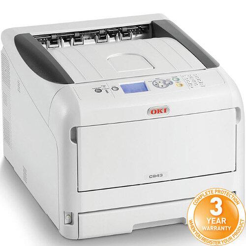 OKI C843dn Colour Laser Duplex Networked Printer A3