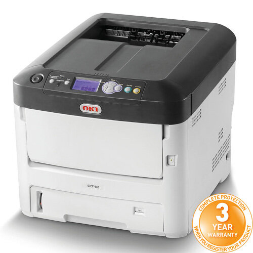 OKI C712n Colour Laser Networked Printer A4