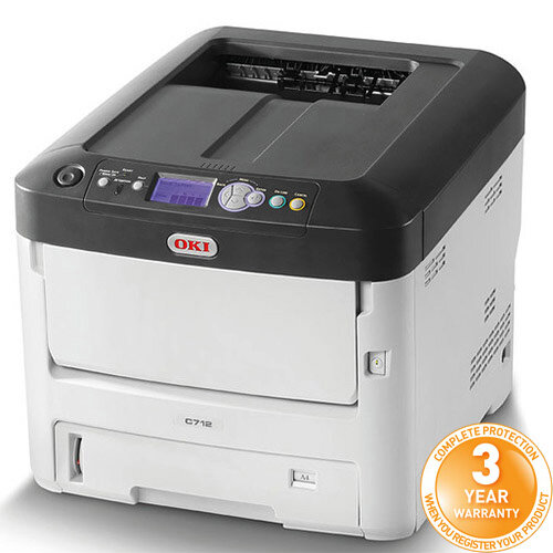 OKI C712dn Colour Laser Networked Printer A4