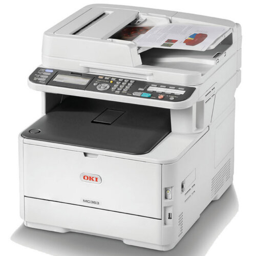 OKI MC363dnw A4 Colour LED Multifunction Printer Print/Scan/Copy/Fax 250 Sheet Tray - Legal (216 x 356 mm)/A4 (210 x 297 mm) (original) - A4/Legal (media) - up to 30 ppm (copying) - up to 30 ppm (printing) - 350 sheets - 33.6 Kbps - USB 2.0, Gigabit LAN,
