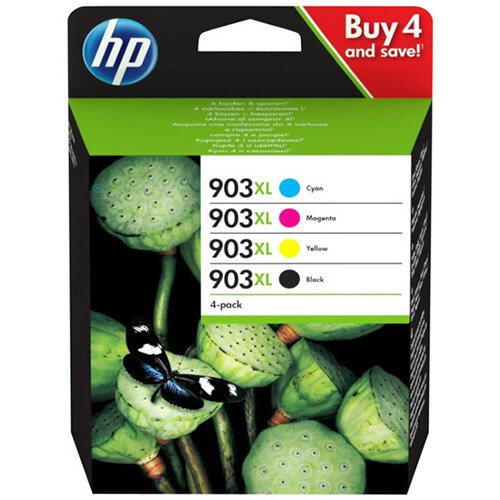 HP 903XL - 4-pack - High Yield - black,yellow,cyan,magenta - original - ink cartridge