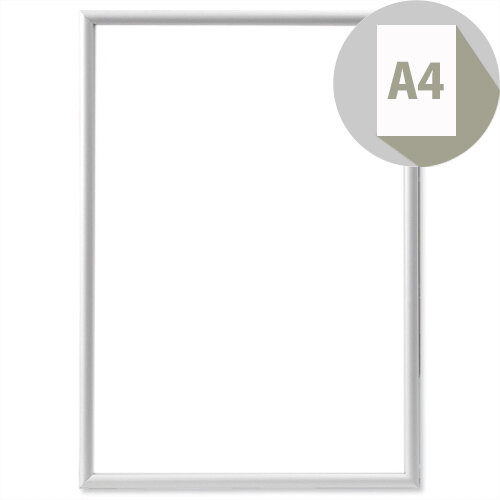 Photo Album Company Certificate Frame Brushed Aluminium A4 PAAFA4B