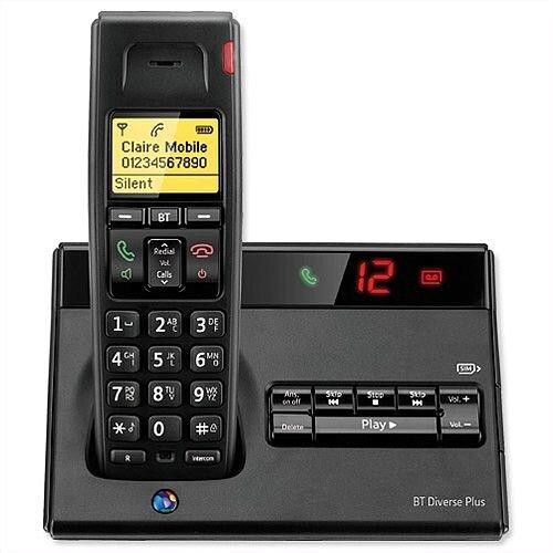 BT Diverse 7150 Plus DECT Cordless Telephone SMS TAM