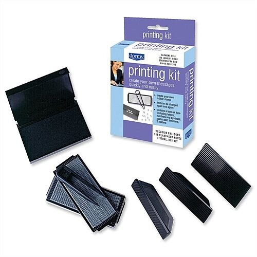 Dormy Printing Kit Rubber Type 3 Holders Stamp Pad 179127