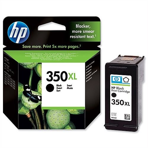 HP 350XL High Yield Black Ink Cartridge CB336EE