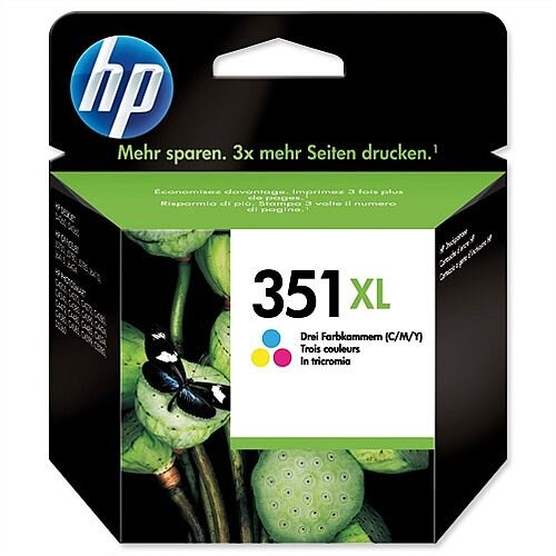 HP 351XL Colour Inkjet Cartridge 74g High Yield CB338EE