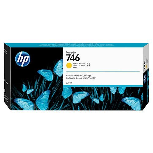 HP 746 - 300 ml - yellow - original - DesignJet - ink cartridge - for DesignJet Z6 PostScript, Z6dr PostScript, Z9+ PostScript, Z9+dr PostScript
