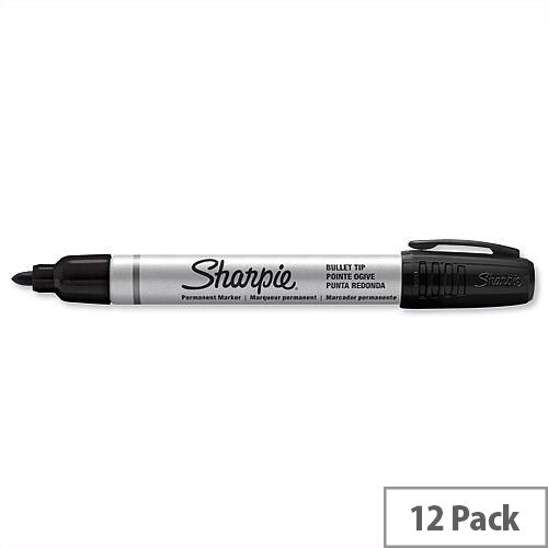 Sharpie Black Permanent Marker Bullet Tip 1.0mm Line S0945720 Pack 12