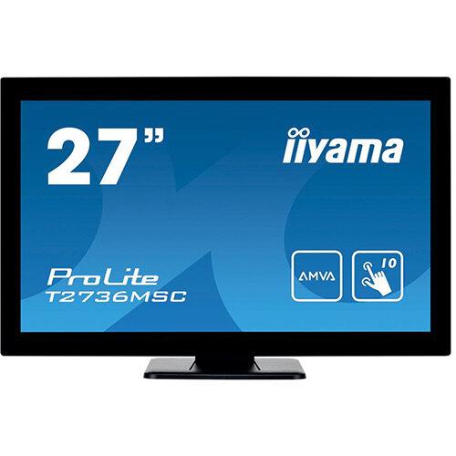"iiyama ProLite T2736MSC-B1 - LED Computer Monitor - 27"" (27"" viewable) - 1920 x 1080 Full HD (1080p) - A-MVA - 300 cd/m"