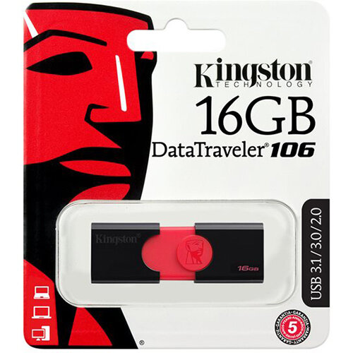 Kingston DataTraveler 106 - USB flash drive - 16 GB