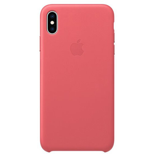Apple - Leather back cover for mobile phone iPhone XS Max in Peony Pink