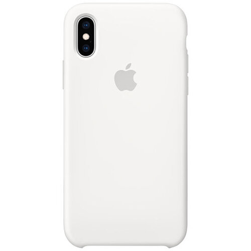 Apple - Silicone back cover for mobile phone iPhone XS White