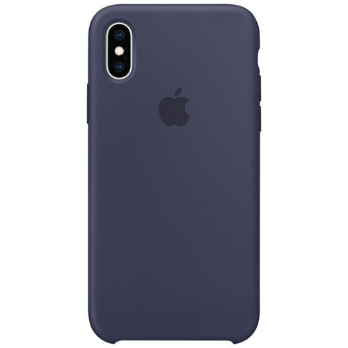 Apple - Silicone back cover for mobile phone Apple iPhone XS in Midnight Blue