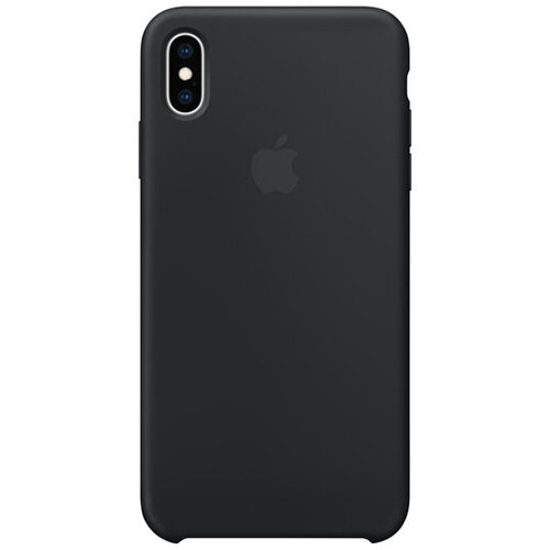 Apple - Silicone back cover for mobile phone iPhone XS Max in Black