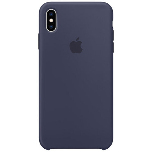 Apple - Silicone back cover for mobile phone Apple iPhone XS Max in Midnight Blue
