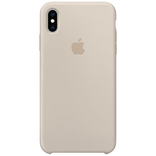 Apple - Silicone back cover for mobile phone Apple iPhone XS Max in Stone