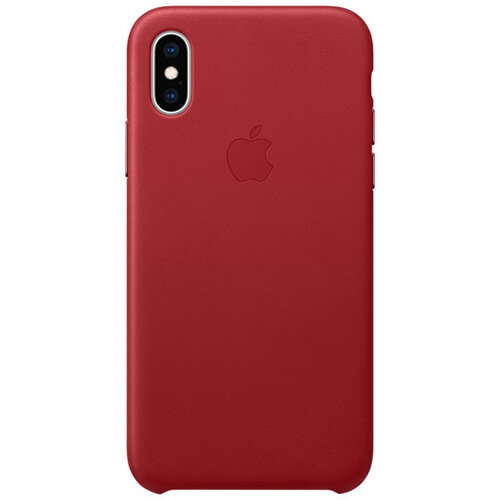 Apple RED - Red Leather back cover for mobile phone iPhone XS