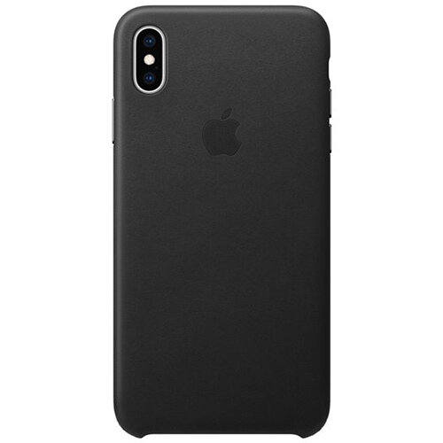 Apple - Leather back cover for mobile phone iPhone XS Max Black