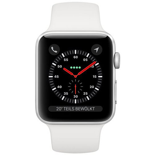 Apple Watch Series 3 (GPS + Cellular) - silver aluminium - smart watch with sport band - white - 16 GB