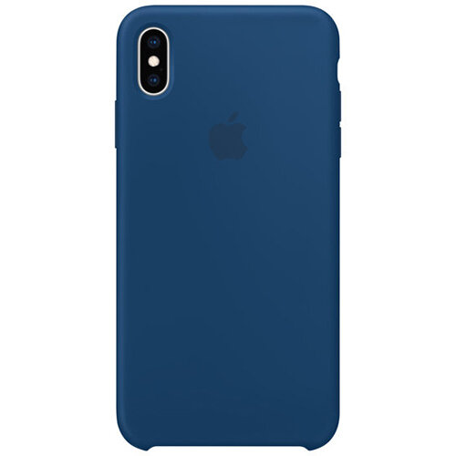 Apple - Silicone back cover for mobile phone iPhone XS Max Horizon Blue