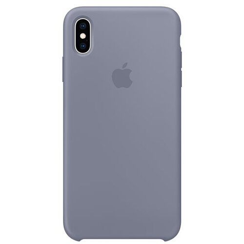 Apple - Silicone back cover for mobile phone Apple iPhone XS Max in Lavender Grey