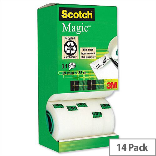 Scotch Magic Tape 19mm x 33m 12 Rolls + 2 FREE Rolls