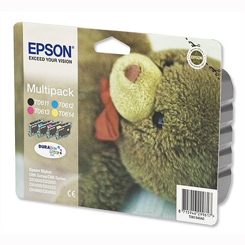 Epson T0615 4 Colour Ink Cartridge 4 Pack
