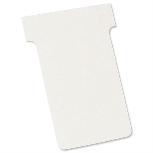 Nobo T Cards Size 2 48.5x85mm White Pack 100