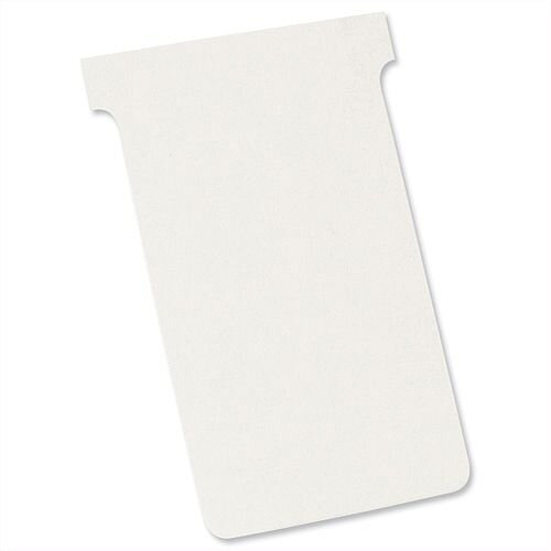 Nobo T-Cards Size 4 112x180mm White Pack 100