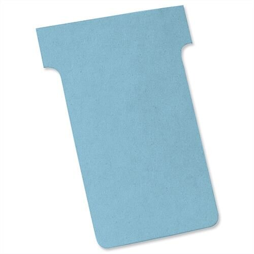 Nobo T Cards Size 2 48.5x85mm Light Blue Pack 100