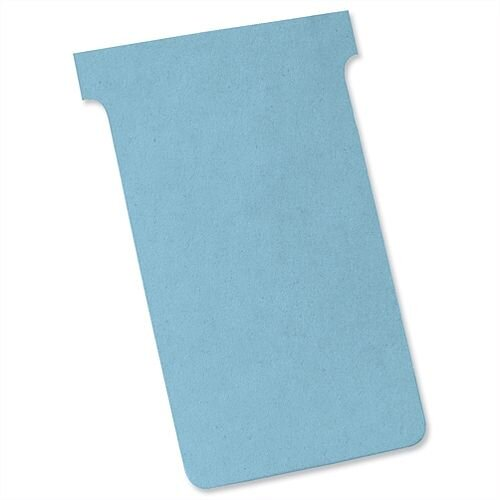 Nobo T Cards Size 3 80x120mm Light Blue Pack 100
