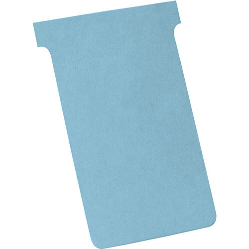Nobo T-Cards Size 4 112x180mm Light Blue Pack 100