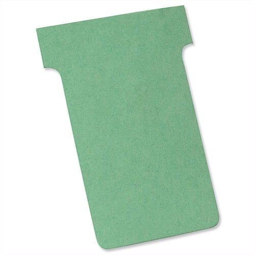 Nobo T Cards Size 2 48.5x85mm Light Green Pack 100