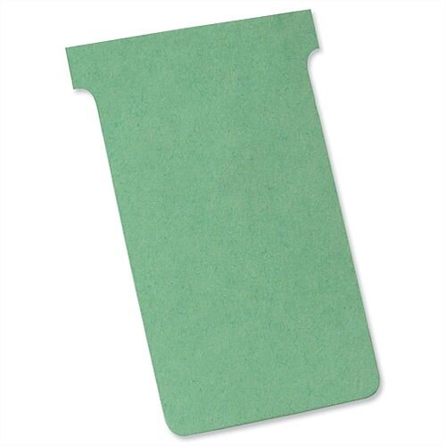Nobo T Cards Size 3 80x120mm Light Green Pack 100
