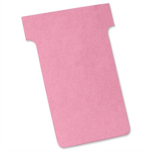 Nobo T Cards Size 2 48.5x85mm Pink Pack 100