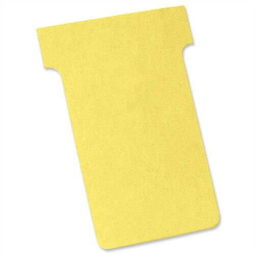 Nobo T Cards Size 2 48.5x85mm Yellow Pack 100