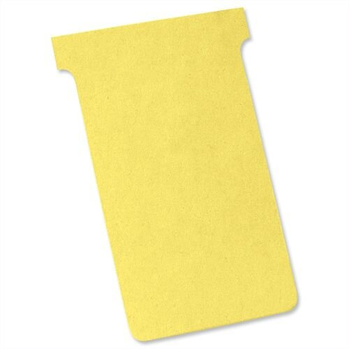 Nobo Tcards Size 4 112x180mm Yellow Pack 100