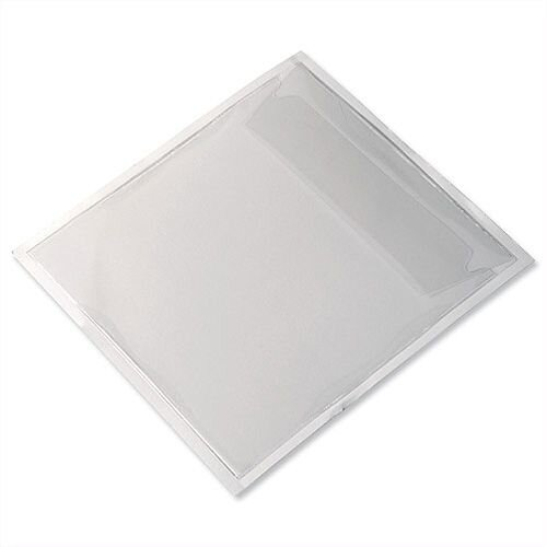 Durable CD/DVD Pocket Self Adhesive Transparent Top Opening and Flap 8280 Pack 100