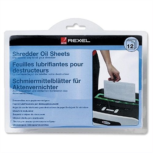 Rexel Shredder Oil Sheets in Envelope Pack 12
