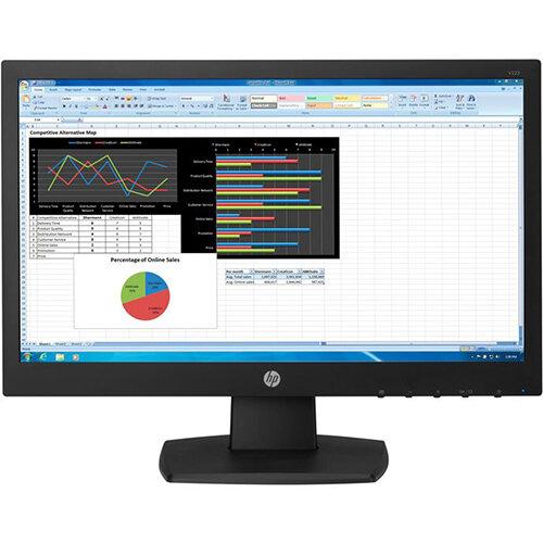 "HP N223 - LED Computer Monitor - 21.5"" (21.5"" viewable) - 1920 x 1080 Full HD (1080p) - TN - 250 cd/m"