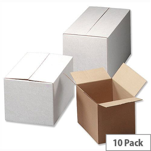 Ambassador Oyster Internal Dimensions W305xD229xH229mm Packing Cardboard Boxes (Pack of 10)