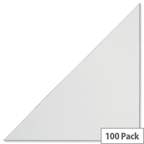 Durable Cornerfix Corner Filing Pockets Soft PVC Self-adhesive 140mm 8318 Pack 100