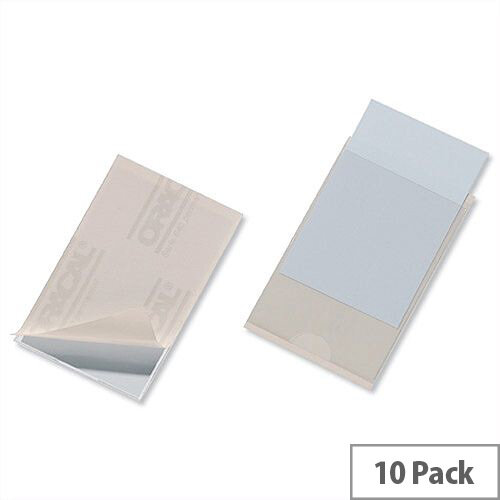 Durable Pocketfix® Self Adhesive Side Opening CD Pocket 57x90mm 8079 Pack 10