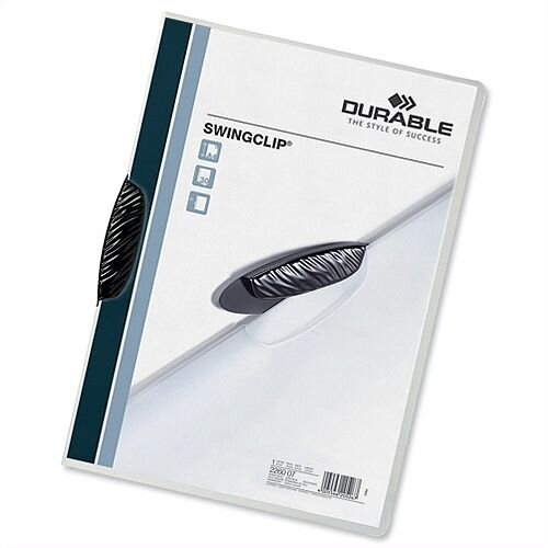 Durable Swingclip Folder A4 30 Sheets Black Pack 25