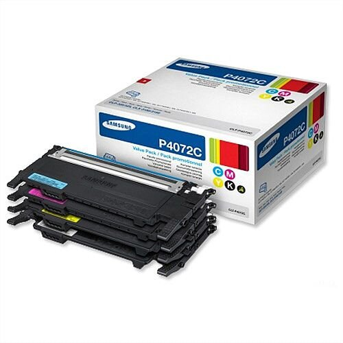 Samsung CLT-P4072C Laser Toners Cyan Magenta Yellow Black Pack 4