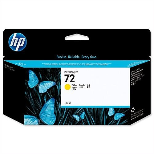HP 72 Yellow Inkjet Cartridge 130 ml C9373A
