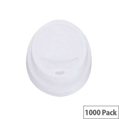 MyCafe Plastic Lids For 8oz/250ml Disposable Cups [Pack of 1000] White Hhlids8