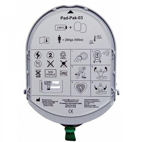 HeartSine PAD PAK 03 Defibrillator Battery &Adult Pads