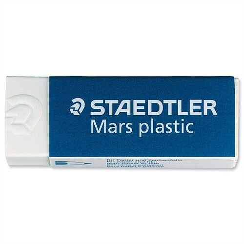 Staedtler Mars Plastic Eraser Self Cleaning Pack 2