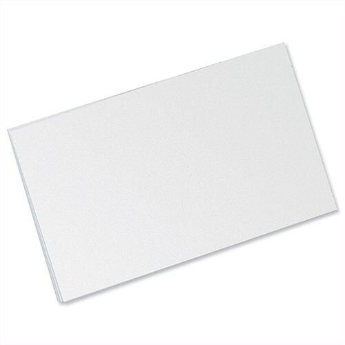 Record Card Smooth Blank 203x127mm White 15901 Pack 100 Concord